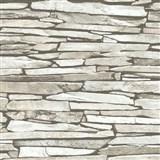 Vliesové tapety na zeď Kaleidoscope ukládaný kámen světle hnědý