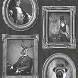Vliesové tapety na zeď Replik Animal Portraits šedo-černé