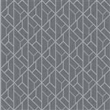 Vliesové tapety na zeď IMPOL Galactik grafický vzor stříbrno-šedý na tmavě šedém podkladu
