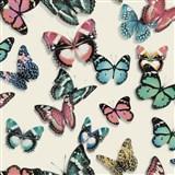 Vliesové tapety na zeď Virtual Vision motýli růžoví