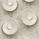 Vliesové tapety na zeď Virtual Vision 3D spirály tmavě hnědé