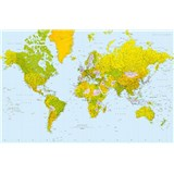 Fototapety Giant Art Map of the World rozměr 175 cm x 115 cm