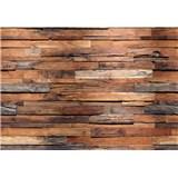 Fototapety dřevěná zeď Wooden Wall rozměr 366 cm x 254 cm