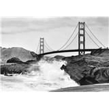 Vliesové fototapety Golden Gate Bridge rozměr 366 cm x 254 cm