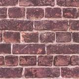 Vliesové tapety na zeď IMPOL Wood and Stone 2 cihly bordově červené