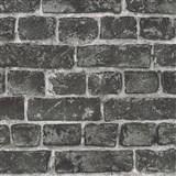 Vliesové tapety na zeď IMPOL Wood and Stone 2 cihly černé