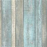 Vliesové tapety na zeď IMPOL Wood and Stone 2 desky světle modro-hnědé