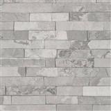 Vliesové tapety na zeď IMPOL Wood and Stone 2 obkladový kámen štípaná břidlice světle šedá