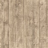 Vliesové tapety IMPOL Wood and Stone 2 dřevo hrubě hoblované hnědé