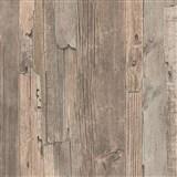 Vliesové tapety IMPOL Wood and Stone 2 dřevo vintage hnědé