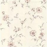 Vliesové tapety na zeď Allure květy růží hnědé se třpytem