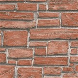 Vinylové tapety na zeď Wood´n Stone cihla červená