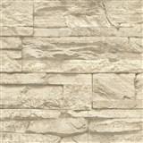 Vliesové tapety na zeď Wood´n Stone kámen béžový
