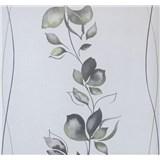 Vliesové tapety na zeď My Feels květy zeleno-šedé