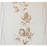 Vliesové tapety na zeď My Feels květy hnědé