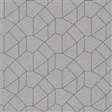 Vliesové tapety IMPOL Carat 2 geometrický vzor zlatý se modrými konturami