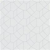 Vliesové tapety IMPOL Carat 2 geometrický vzor bílý s šedými konturami