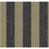 Vliesové tapety na zeď Carat pruhy bronzovo-černé - POSLEDNÍ KUSY