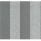 Vliesové tapety na zeď Casual Chic pruhy tmavě šedé