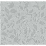 Vliesové tapety na zeď Casual Chic lístečky šedé