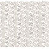 Dekorativní obklad na stěnu Ceramics Wave šedý šířka 67,5 cm x 20 m