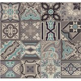 Dekorativní obklad na stěnu Ceramics Simenta šedá-modrá šířka 67,5 cm x 20 m
