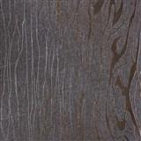 Vliesové tapety na zeď Colani Visions dřevo moderní hnědé s měděnými konturami