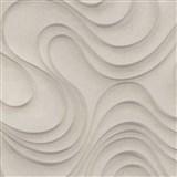 Luxusní vliesové tapety na zeď Colani Evolution vlnovky světlé hnědé