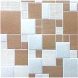 Vinylové tapety na zeď Collection kostky hnědé/béžové/stříbrné