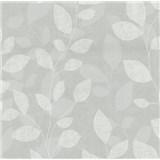 Vliesové tapety na zeď Collection lístky světle šedé