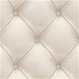 Vliesové tapety na zeď Exposed Warehouse imitace koženky s knoflíky šedá