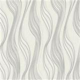 Vliesové tapety na zeď Collection 2 vlnovky bílo-stříbrné