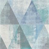 Vliesové tapety na zeď IMPOL Collection geometrické vzory s patinou šedo-zeleno-modré
