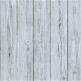 Luxusní vliesové tapety na zeď IMPOL Attitude dřevěné desky šedé