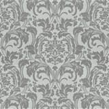 Luxusní vliesové tapety na zeď G.M.Kretschmer Deluxe zámecký vzor šedý