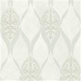 Luxusní vliesové tapety na zeď G.M.Kretschmer Deluxe kašmírový vzor bílý