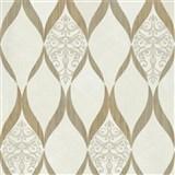Luxusní vliesové tapety na zeď G.M.Kretschmer Deluxe kašmírový vzor zlato- krémový