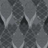Luxusní vliesové tapety na zeď G.M.Kretschmer Deluxe kašmírový vzor černo-šedý