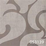 Tapety na zeď La Veneziana - bílý benátský vzor na stříbrném podkladu s metalickým efektem