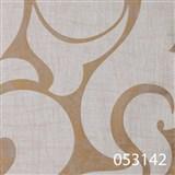 Tapety na zeď La Veneziana - bílý benátský vzor na zlatém podkladu s metalickým efektem