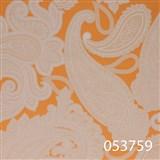 Vliesové tapety na zeď Astoria - kašmírový vzor bílý na oranžovém podkladu