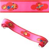Dětské bordury Die Maus myška červeno-růžová