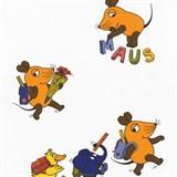 Tapety na zeď Die Maus myška a přátelé jdou do školy
