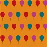 Tapety na zeď Die Maus barevné balónky na oranžovém podkladu