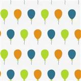 Dětské tapety na zeď Die Maus barevné balónky na bílém podkladu