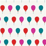 Tapety na zeď Die Maus barevné balónky na bílém podkladu
