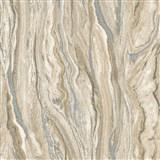 Vliesové tapety na zeď Elle Decoration mramor hnědo-stříbrný