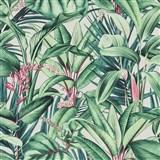 Vliesové tapety na zeď IMPOL Paradisio 2 fauna na krémovém podkladu