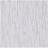 Vliesové tapety na zeď IMPOL Paradisio 2 florální vzor stříbrný na bílém podkladu
