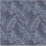 Vliesové tapety na zeď IMPOL Paradisio 2 listy modro-stříbrné na černém podkladu